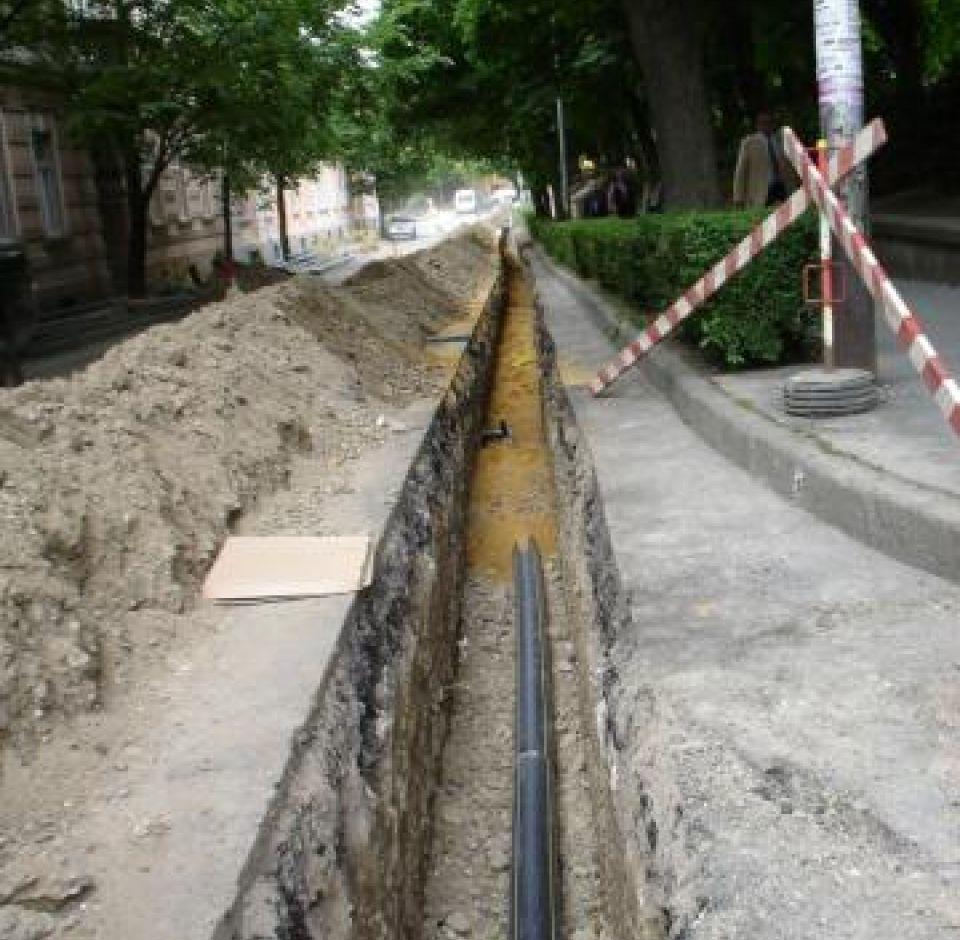 Pécs, Esze T. u. - Janus Pannonius u. - Káptalan u. gázvezeték rekonstrukció