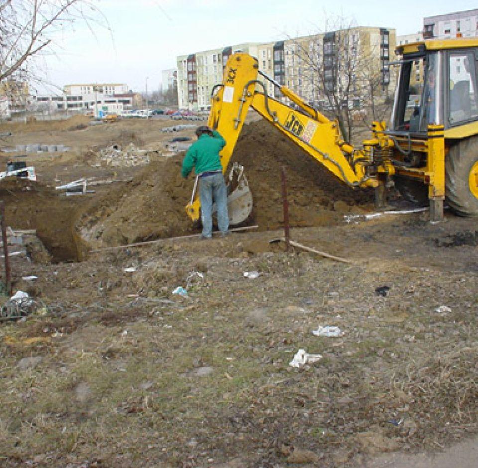 2002. - Pécs, Fáy András u. lakópark infrastrukturális ellátása